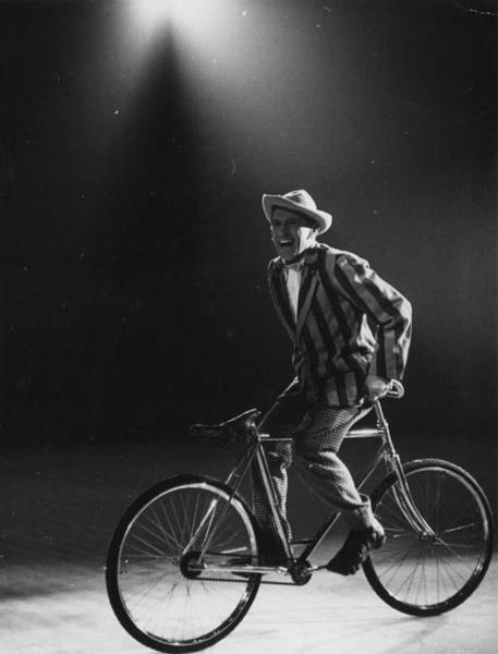 Photograph - Comic Cyclist by Thurston Hopkins