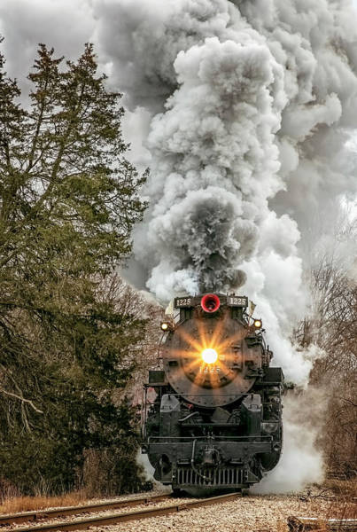 Marquette Photograph - Comin' Down The Track by Pat Eisenberger