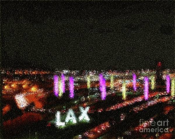 Lax Digital Art - Coming And Going In The Heart Of L A At Night-time - Impression Style by Ginger Goodspeed