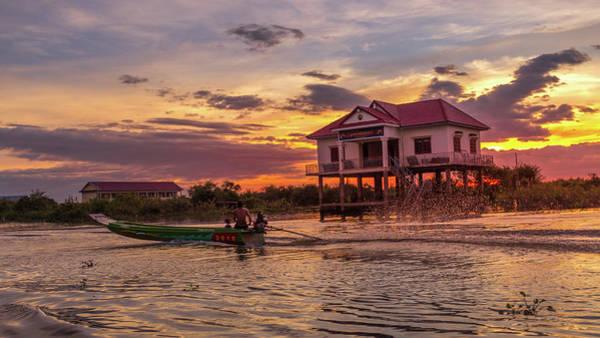 Photograph - Coming Home - Tonle Sap Lake by Kevin Davis