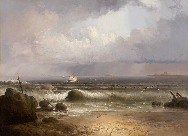 Wall Art - Painting - Coming Squall by Thomas Doughty