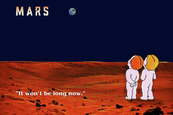 Wall Art - Digital Art - Coming To Mars by John Haldane