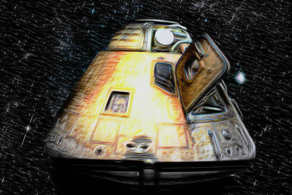 Space Mixed Media - Command Module by Aaron Berg