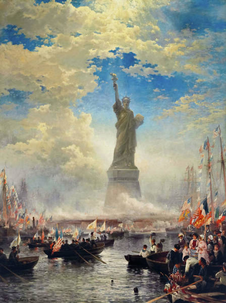 Wall Art - Painting - Commerce Of Nations Rendering Homage To Liberty, 1876 by Edward Moran