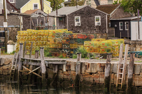 Wall Art - Photograph - Commercial Fishing Lobster Traps by Adam Jones