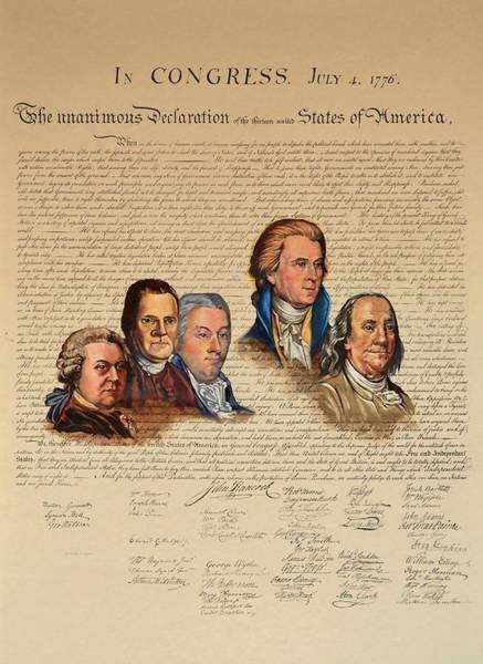 Painting - Committee Of Five by Joan Garcia