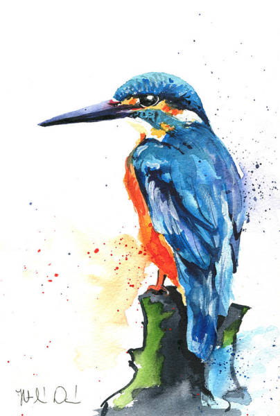 Painting - Common Kingfisher by Dora Hathazi Mendes