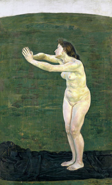 Communion Painting - Communion With The Infinite, 1892 by Ferdinand Hodler