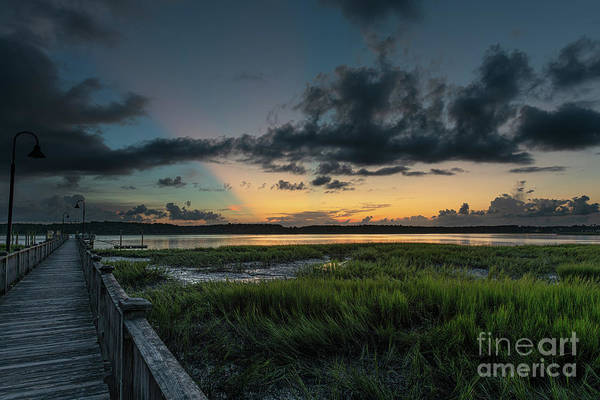 Photograph - Community Dock Sunset - Wando River by Dale Powell