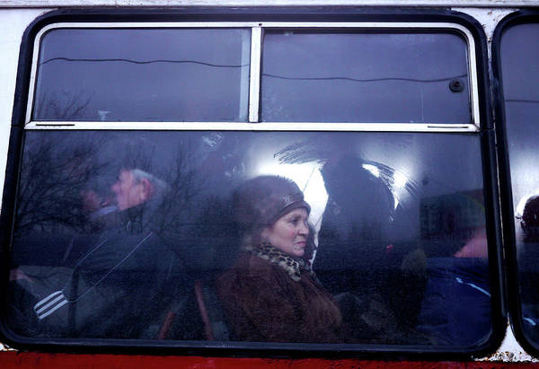 Moldova Wall Art - Photograph - Commuters On A Cold Morning by Amos Chapple