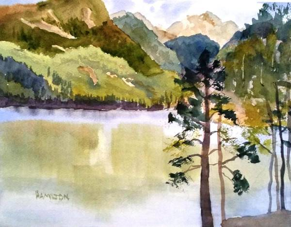 Painting - Como Lake by Larry Hamilton