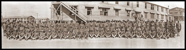 Wall Art - Photograph - Company A. 371st Infantry, Camp by Fred Schutz Collection