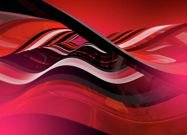 Wall Art - Photograph - Complex Abstract Red Wave Pattern by Ikon Images