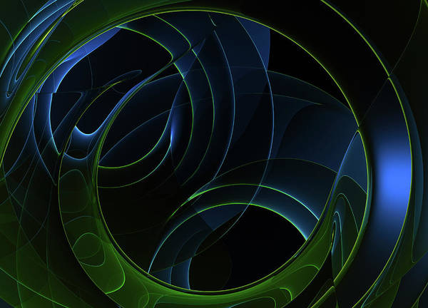 Wall Art - Photograph - Complex Crisscrossing Abstract Spiral by Ikon Images
