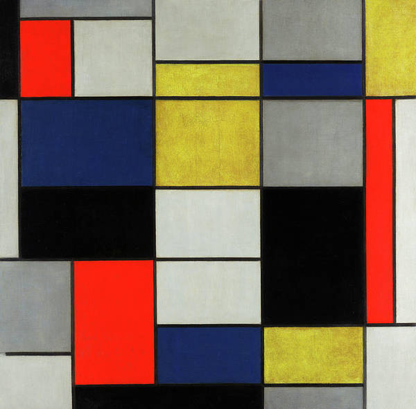 Wall Art - Painting - Composition, 1919-1920 by Piet Mondrian