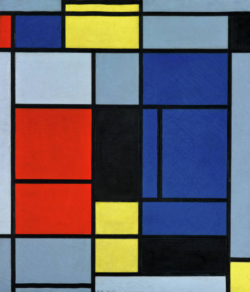 Wall Art - Painting - Composition, 1921-1925 by Piet Mondrian