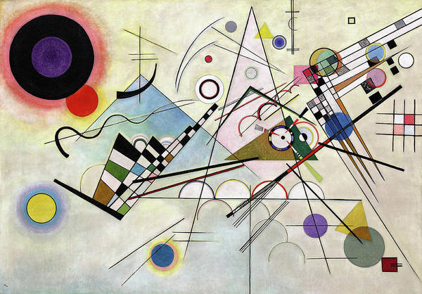 Wall Art - Painting - Composition 8 - Komposition 8 by Wassily Kandinsky