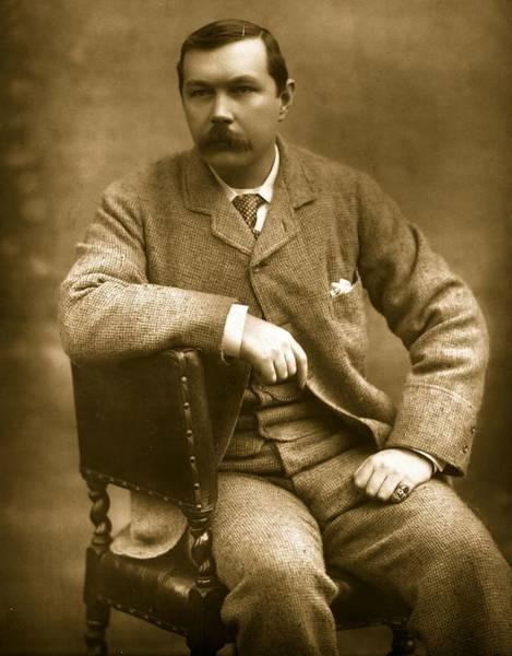 Conan Photograph - Conan Doyle by Herbert Barraud