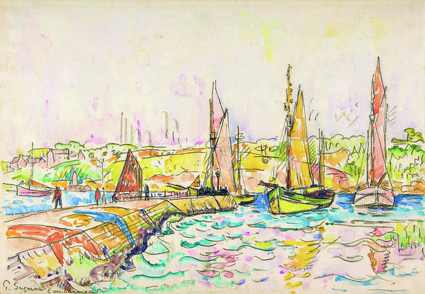 Wall Art - Painting - Concarneau - Digital Remastered Edition by Paul Signac