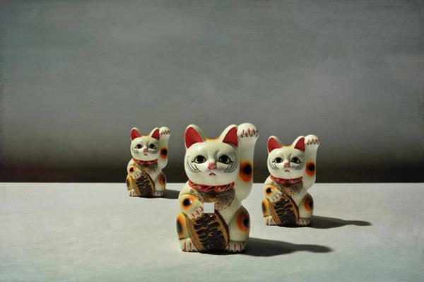 Luck Photograph - Conceptual Image  Beckoning Cat by Yagi Studio