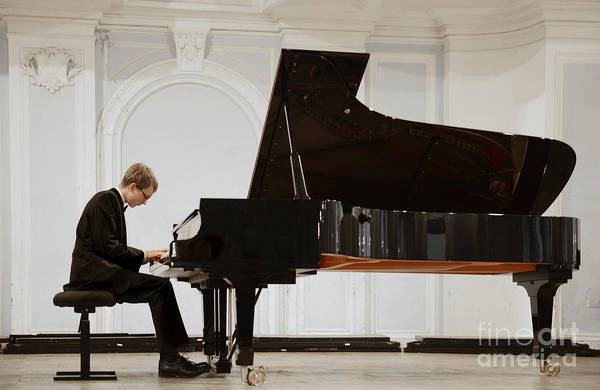 Concert In The Rachmaninov Hall Of The Art Print