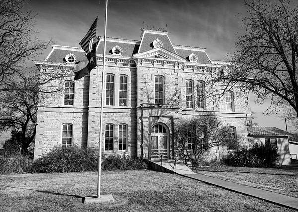 Wall Art - Photograph - Concho County Courthouse by Stephen Stookey