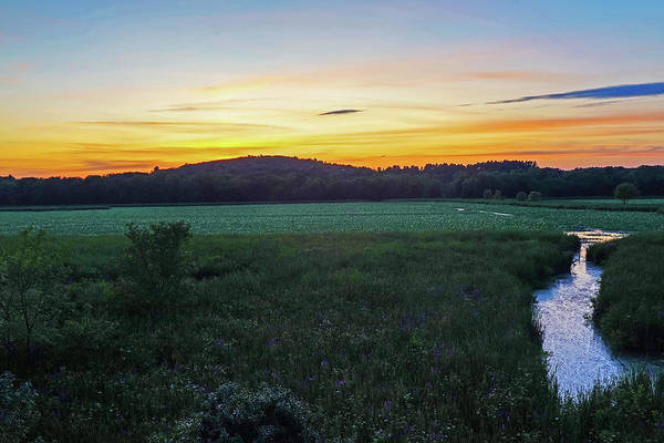 Photograph - Concord Ma Great Meadows Sunset Lotus Bloom by Toby McGuire