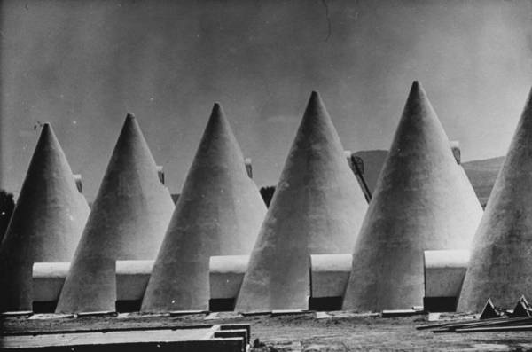 Photograph - Cone Shaped Buildings.  Photo By John D by John Dominis