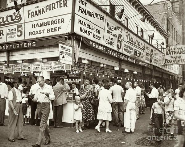 Photograph - Coney Island, 1947 by Al Aumuller