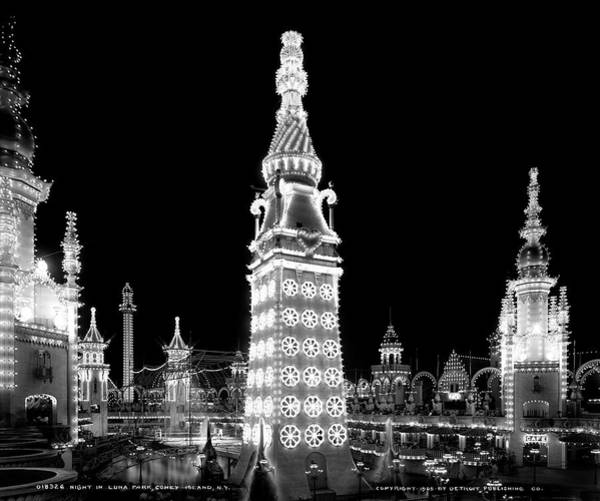 Wall Art - Photograph - Coney Island - Electric Tower Luna Park 1905 by Daniel Hagerman