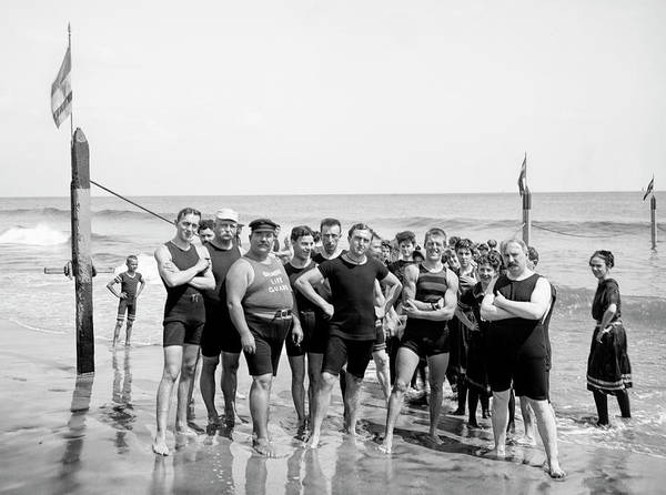 Wall Art - Photograph - Coney Island Lifeguard Crew C. 1900 by Daniel Hagerman