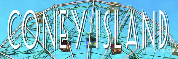 Wall Art - Digital Art - Coney Island Sign by Edward Fielding