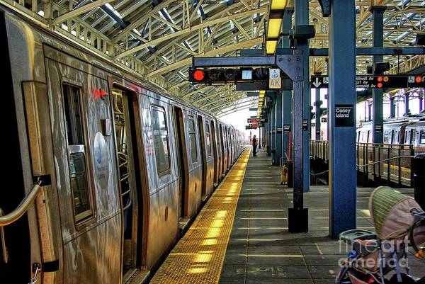 New York Wall Art - Photograph - Coney Island Subway Train Station by Zal Latzkovich