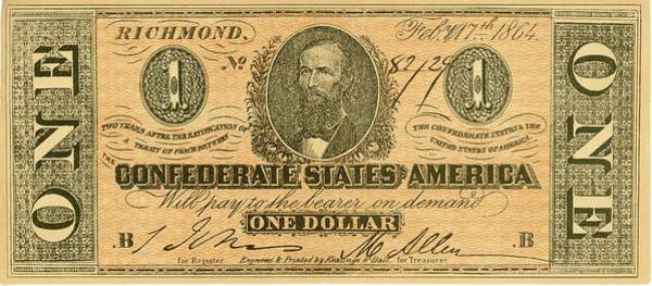 Wall Art - Photograph - Confederate Dollar Bill by Paul W Faust -  Impressions of Light