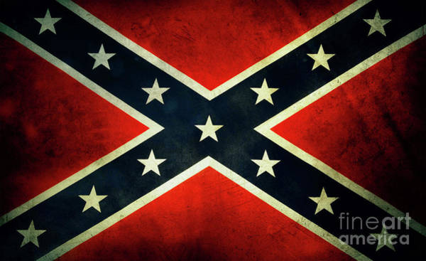 Photograph - Confederate Rebel Battle Flag by Doc Braham
