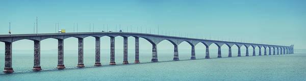 Prince Edward Island Photograph - Confederation Bridge Panoramic by Shaunl