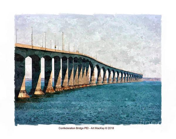 Digital Art - Confederation Bridge, Pei 3 by Art MacKay