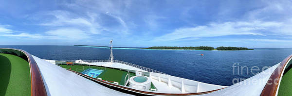 Princess Cruise Lines Photograph - Conflict Islands Papua New Guinea View From Bow Of Ship by Roy Jacob