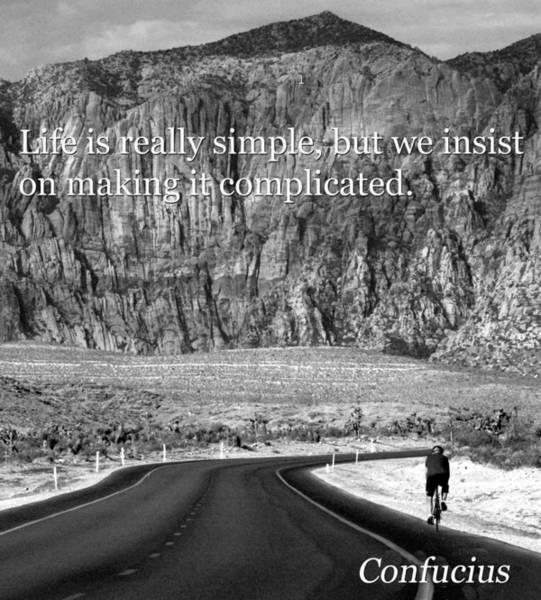 Wall Art - Photograph - Confucius On Life by David Lee Thompson