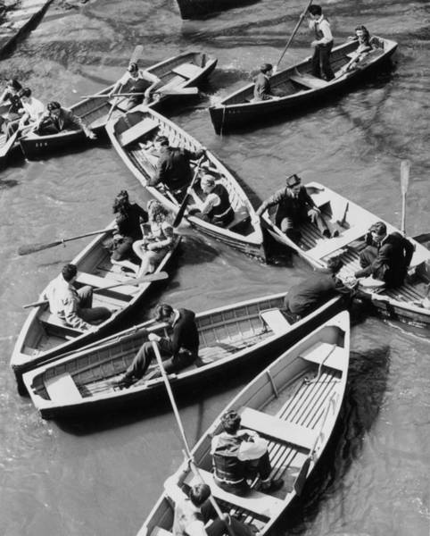 Rowboat Photograph - Congested Boating by Mac Gramlich