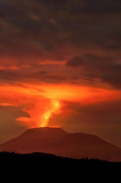 Volcanic Craters Photograph - Congo Volcanic Eruption 2011 by Steve Turner