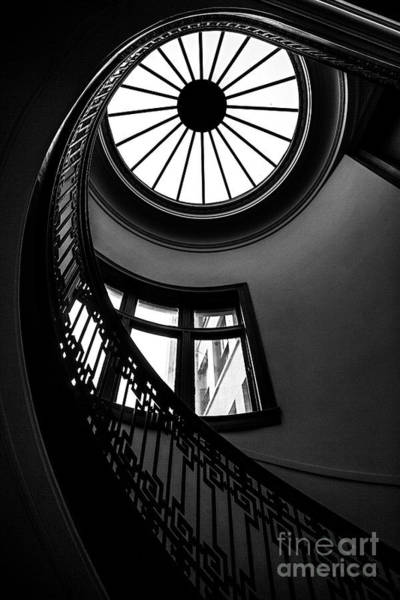 Wall Art - Photograph - Conical Shaped Old Spiral Staircase by Jasondoiy