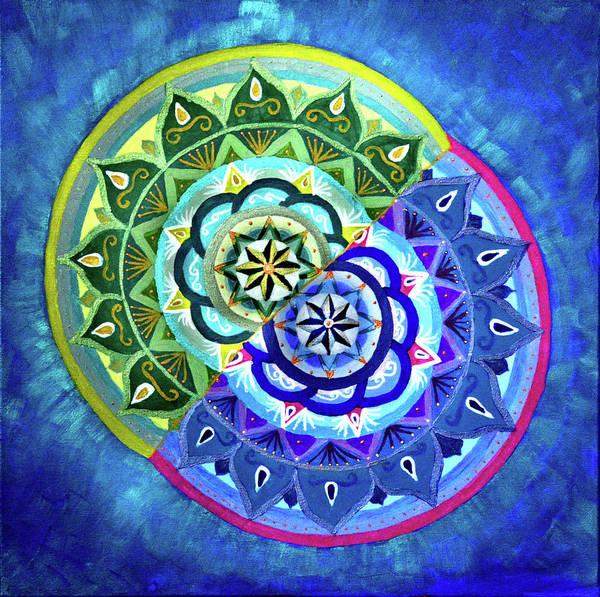 Painting - Conjoined Stars by Astrid Haszprunarova