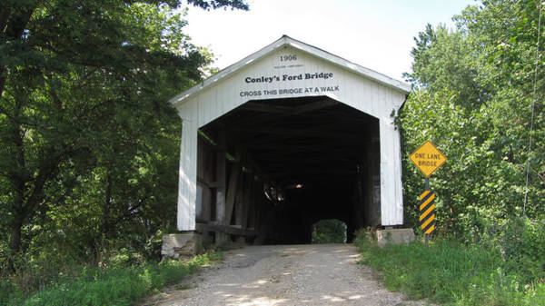 Rockville Photograph - Conley's Ford Covered Bridge by Jackson Harmeyer