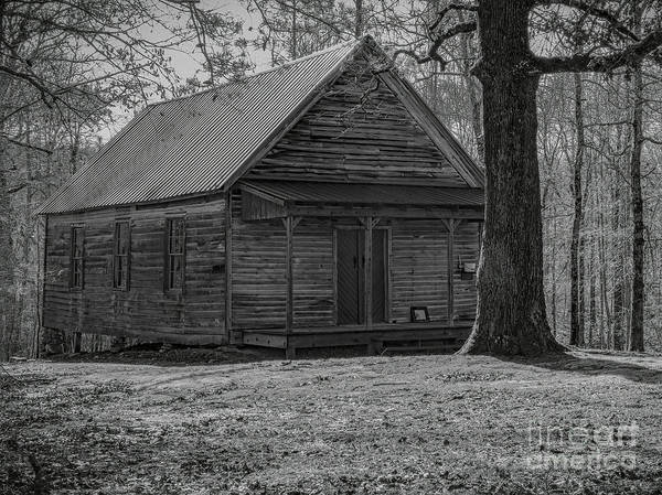 Hillside Wall Art - Digital Art - Conns One Room School House by Elijah Knight