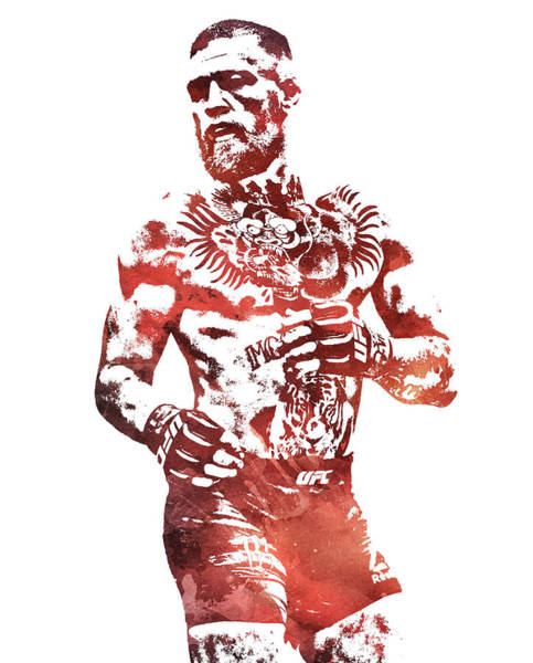 Boxing Mixed Media - Conor Mcgregor Ufc Water Color Pixel Art 1 by Joe Hamilton