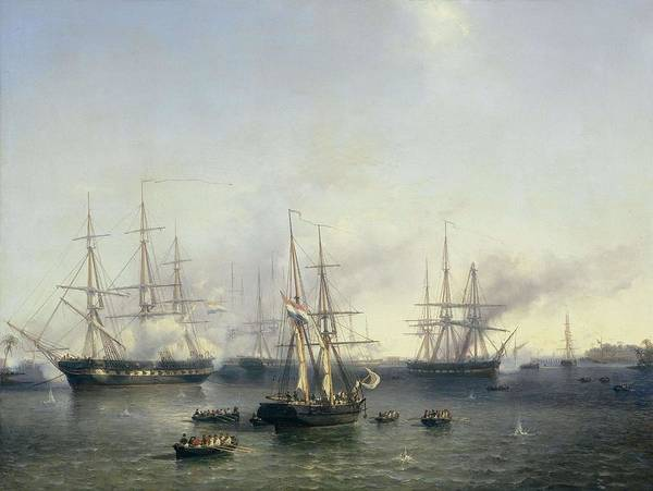 Meijer Painting - Conquest Of Palembang, Sumatra In Indonesia, By Lieutenant-general Baron De Kock, June 24, 1821. ... by Louis Meijer