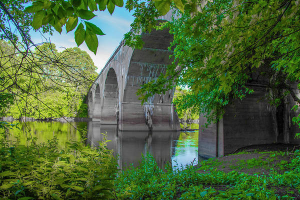 Wall Art - Photograph - Conrail - Phoenixville Bridge In Summer by Bill Cannon