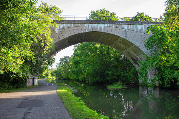Wall Art - Photograph - Conrail - Phoenixville Bridge Over The Canal by Bill Cannon