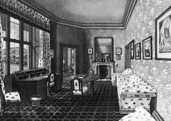1850 Wall Art - Photograph - Consorts Sitting Room by Hulton Archive